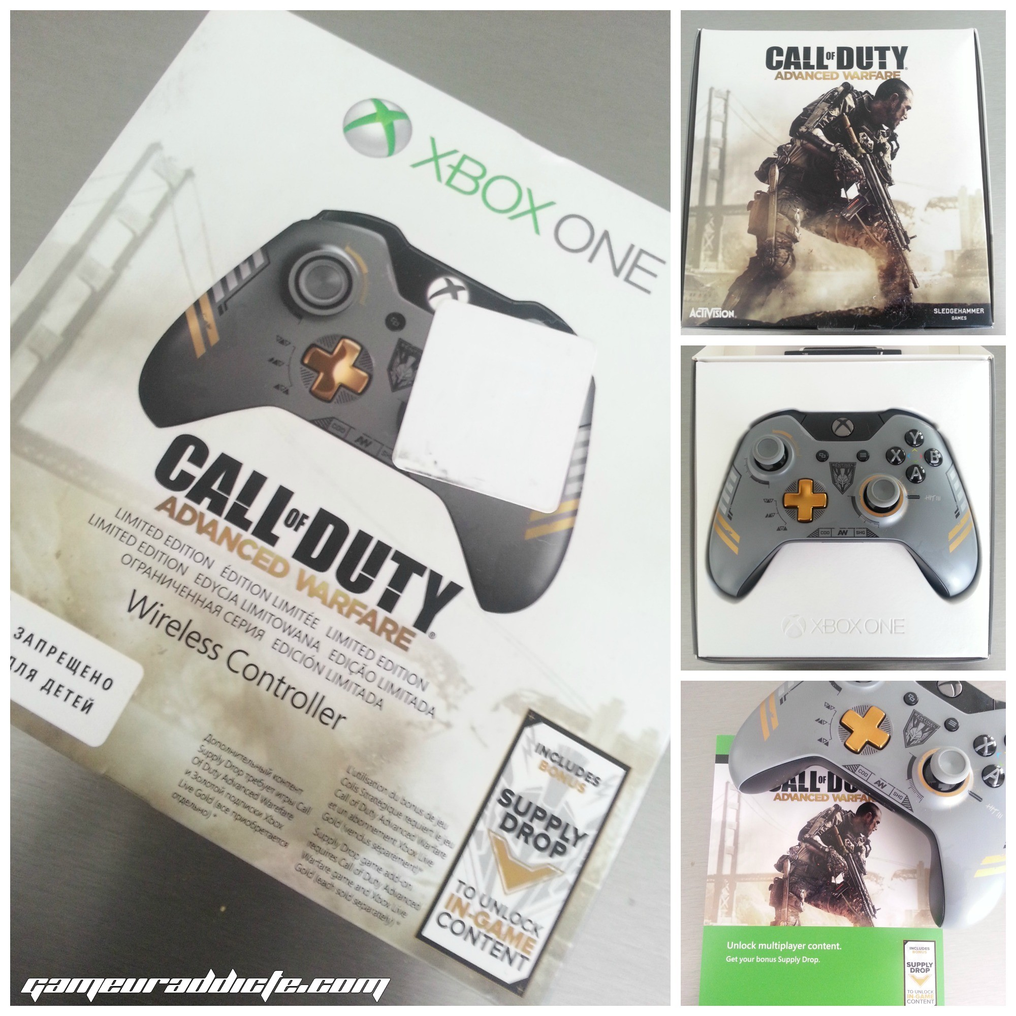 unboxing manette xbox one collector call of duty. Black Bedroom Furniture Sets. Home Design Ideas